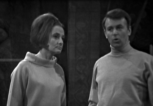 Ian tells Barbara that this is an ideal place to fight Daleks as they can't climb stairs