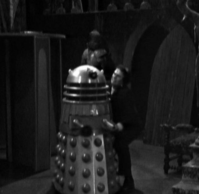 Frankenstein picks up a Dalek