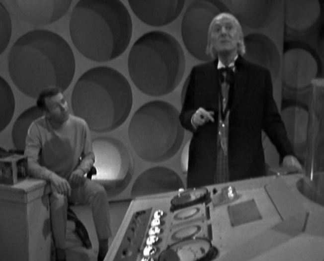 The Doctor tells Ian and Barbara that the Haunted House is not part of time or space