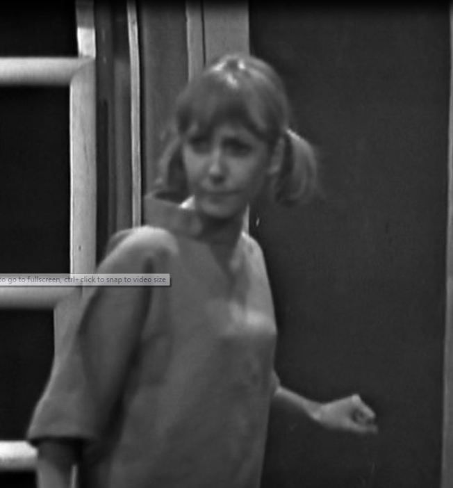 Vicki emerges from the shadows and sees the Dalek reproduction machine