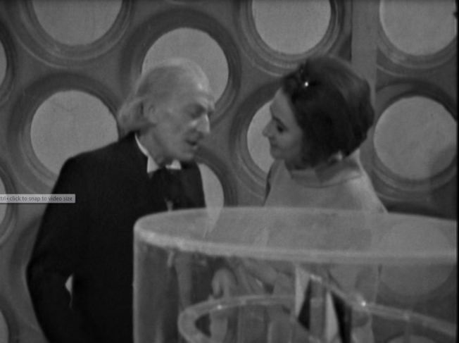 Barbara tells the Doctor that they could repair the Ship's time mechanism, and retrieve Vicki, if they all work together