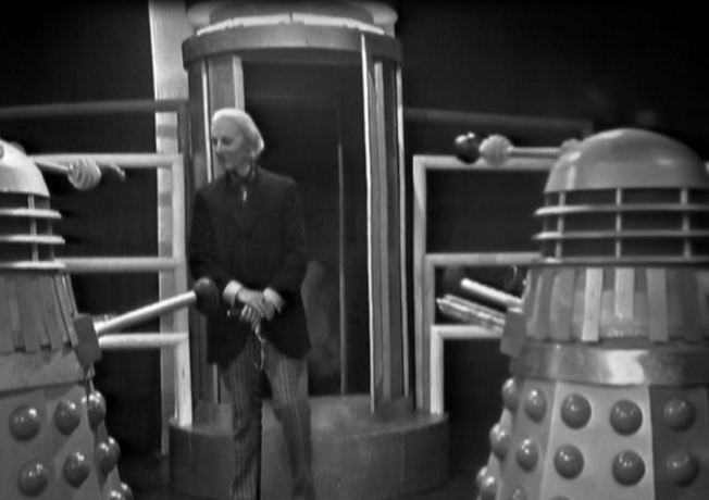 In the Daleks' eyes the robot Doctor can't be distinguished from the original