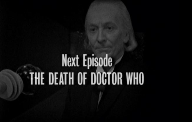 "As the credits begin to roll the audience are shocked to learn that the next episode is entitled ""The Death of Doctor Who"""