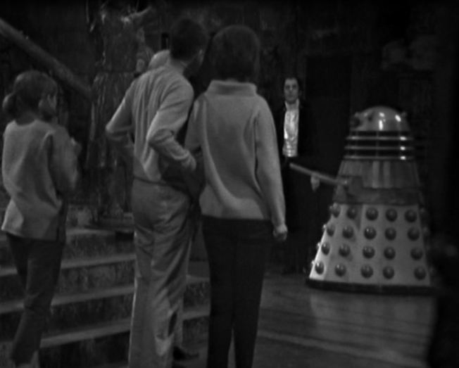 The TARDIS Crew meet Dracula and a Dalek