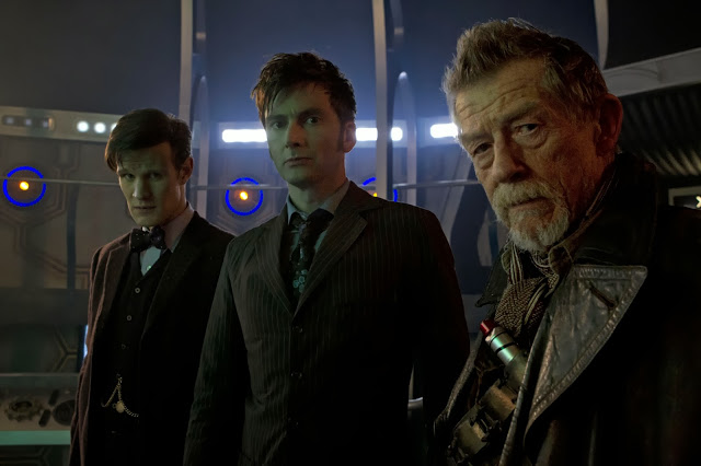 Three Doctors - Matt Smith, David Tennant and John Hurt in The Day of the Doctor