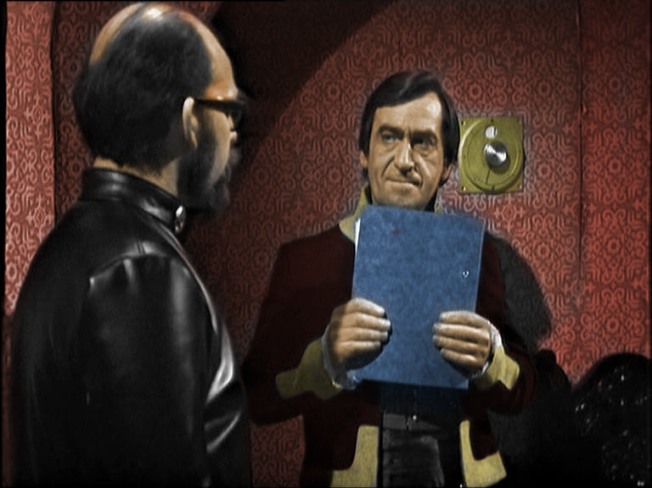 Patrick Troughton plays the evil would-be world dictator, Salamader, in The Enemy of the World