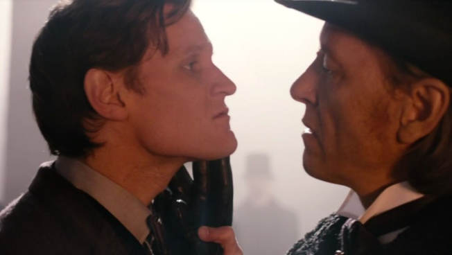 The Eleventh Doctor )(Matt Smith) with the Great Intelligence (Richard E. Grant) in The Name of the Doctor