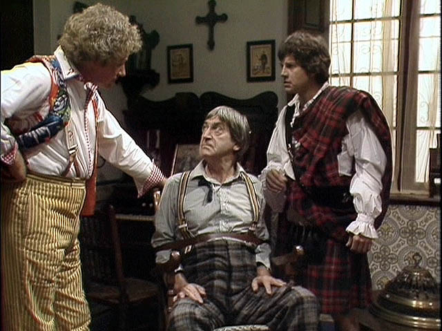 Jamie with the Second and Sixth Doctors in The Two Doctors