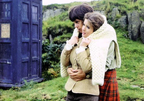 Deborah Watling as Victoria and Frazer Hines as Jamie in The Abominable Snowmen