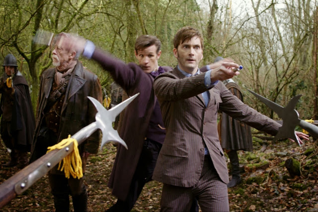The Three Doctors - John Hurt, Matt Smith and David Tennant