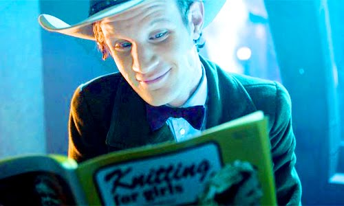 The Eleventh Doctor continues the knitting tradition