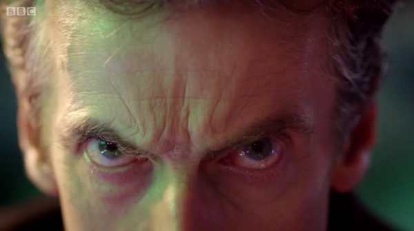 A screen cap from  Peter Capaldi's brief cameo appearance in The Day of the Doctor