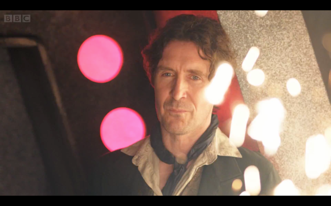 """I'm a Doctor, but probably not the one you were expecting"".  The Eighth Doctor, Paul McGann, surprises fans by appearing as the star of The Night of the Doctor"
