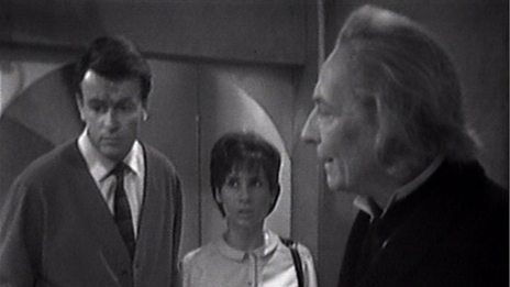 Barbara, Susan and the Doctor in episode 2 of the Daleks, The Survivors