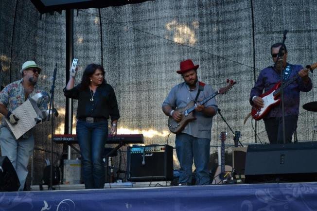 Frank Macias and Los Amigos.  My friend Lyndall Dalley is seen here playing the tambourine.
